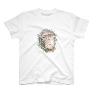 チンパンジーをモチーフにした水彩画 T-shirts