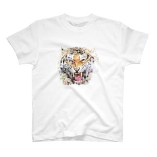 トラ(虎・とら)をモチーフにした水彩画 T-shirts