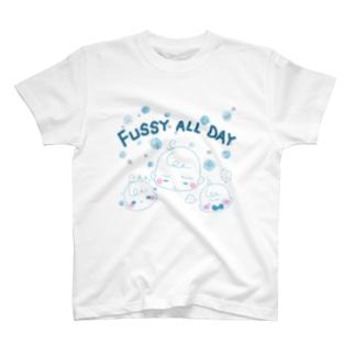 苺ぱんだのぐずぐず★ベイビーブルー T-shirts