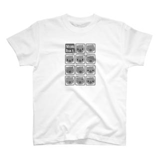 うぉんばっとくんのいろんな表情 T-shirts