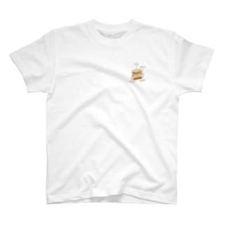 肉厚サーモンサンド T-shirts