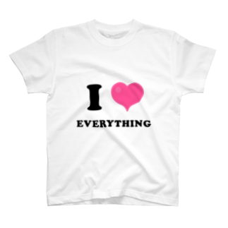 yossibleのI LOVE EVERYTHING T-shirts