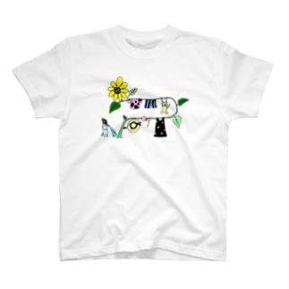 せんたくものを干すねこ(カラー) T-shirts