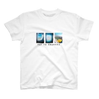 グラナダ行き飛行機Tシャツ T-shirts