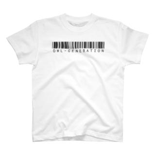 【前面】バーコードロゴ T-shirts