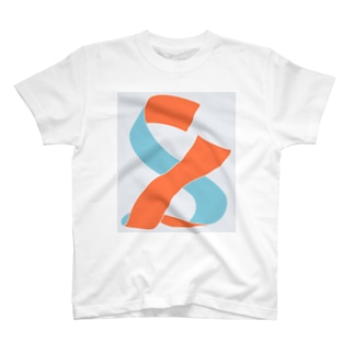 布 - 赤橙 浅葱 T-shirts