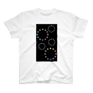 色相環の花火 T-shirts