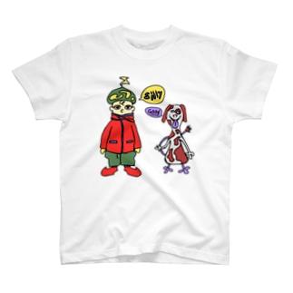 むむむの少年と仲間にできそうな生物 T-shirts
