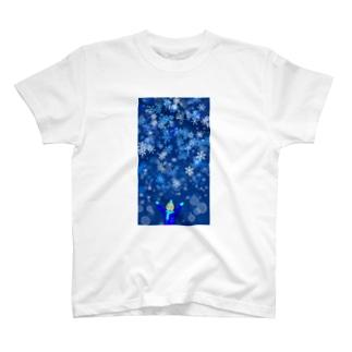 Shop-TSUMIKIのラブリースノウ T-shirts