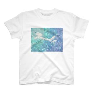 グラデーションな女の子 T-shirts