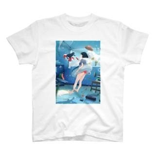 海の日スイカ T-shirts