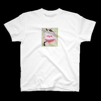 ちなこ☆動物にも愛をの餅猫シダー 鉄火丼 T-shirts