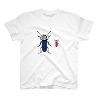 青いUSBと赤いUSB T-shirts