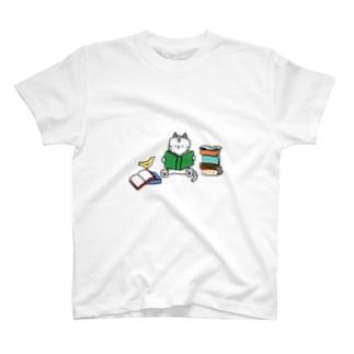 Reading neko T-shirts