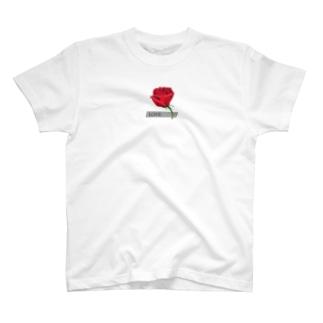 Rose-赤いバラ T-shirts