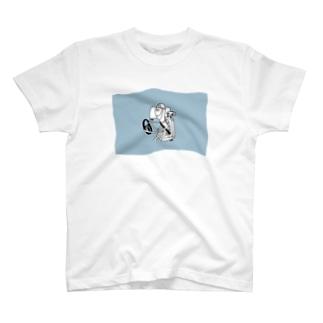 ファザーのドライブ(青) T-shirts