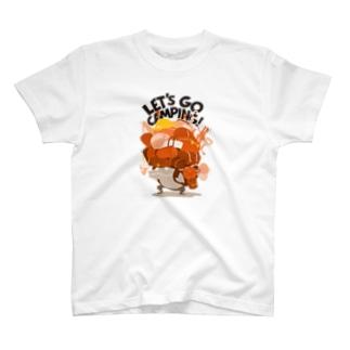 johnmacnのキャンプ行こう! Orange T-Shirt