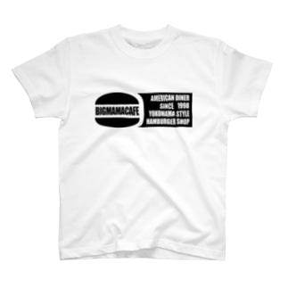 Bigmamacafe ブラックロゴ T-shirts