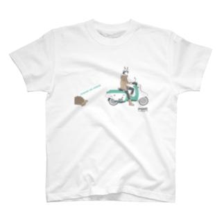 うさぎとカメ T-shirts