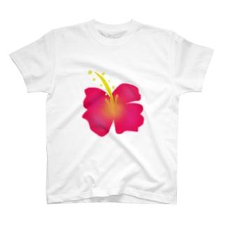 ハイビスカス(大) T-shirts
