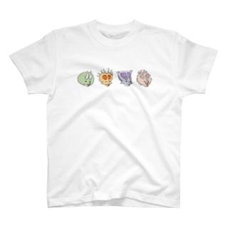 ほのぼの恐竜 トリケラトプス兄弟 T-shirts