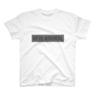 離れると読めるTシャツ/NEW NORMAL<淡色用> T-shirts