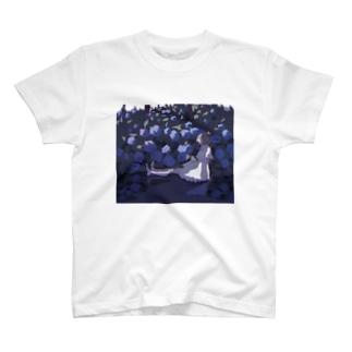 紫陽花 T-shirts