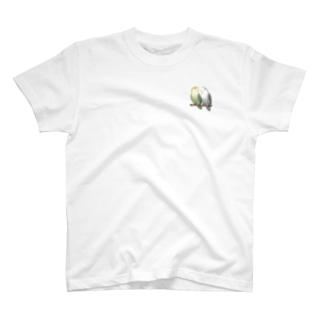 コザクラインコ モーブとオリーブ【まめるりはことり】 T-shirts
