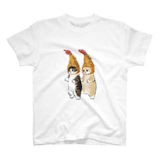 ダブルえび天にゃん T-shirts
