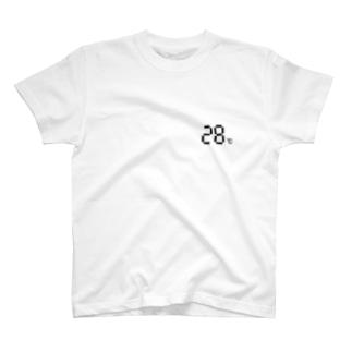 温度設定28℃ T-shirts