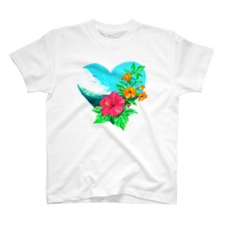 【uka】季節の花だより:夏 T-shirts