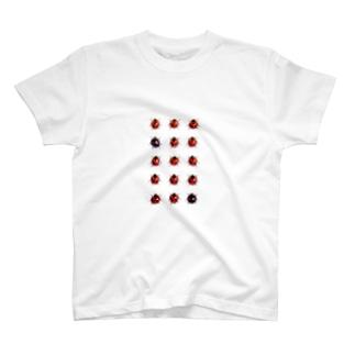 整列するてんとう虫 木原幸志郎 T-shirts