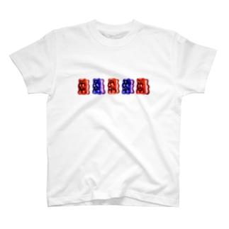 整列するハリボー 木原幸志郎 T-shirts