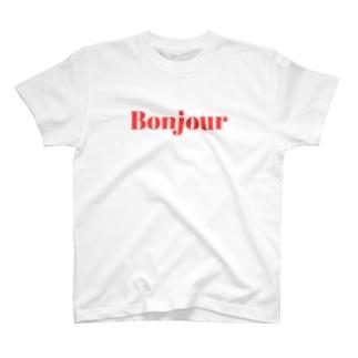 ボンジュールTシャツ T-shirts