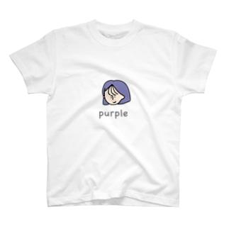purpletシャツ T-shirts