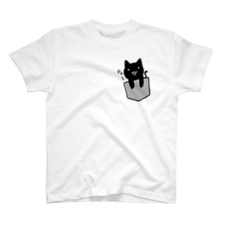 ポケットネコ T-shirts