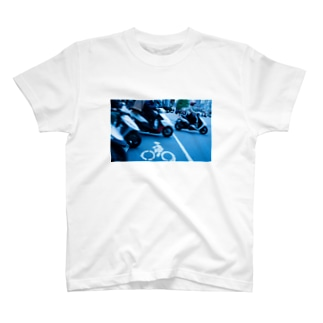 台北の道路表示(自転車) T-shirts
