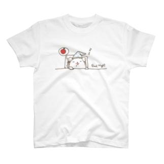 Johnny Houseのおやすみハリネズミ T-shirts