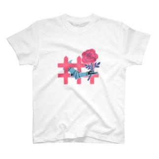 庭に薔薇 T-shirts