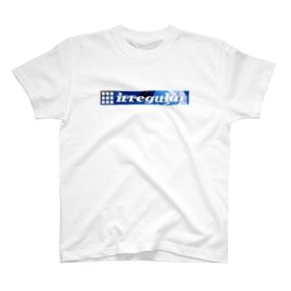 irregular blue T-shirts