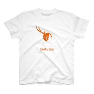 Studio Persimmonの鹿ガール T-shirts