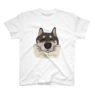 おねむな柴犬 T-shirts