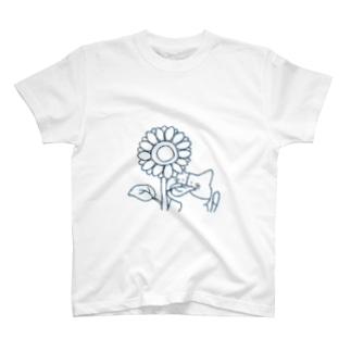 ぺうさと愉快な仲間達のミケの夏 T-shirts