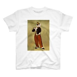 paz&sheetaの笛を吹くフェレット T-shirts