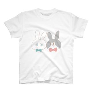 大きめなかよしうさちゃん T-shirts