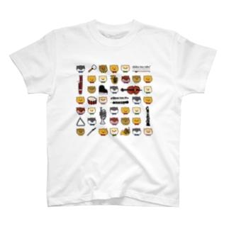 柴犬ラク(ラクと楽器たち) T-Shirt