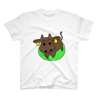 ushi_黒 T-shirts