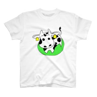 ushi_白 T-shirts