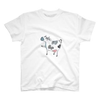 牛さん シャツ T-shirts