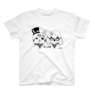 帽子と眼鏡 T-shirts